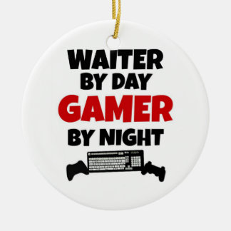 Ornement Rond En Céramique Serveur par le Gamer de jour par nuit