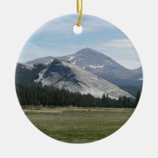 Ornement Rond En Céramique Sierra parc national des montagnes de Nevada III