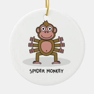 Ornement Rond En Céramique Singe d'araignée