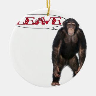 Ornement Rond En Céramique singe leave