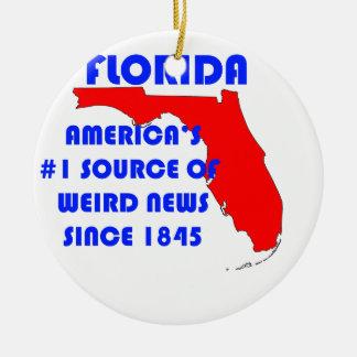 Ornement Rond En Céramique Source de la Floride #1 pour de nouvelles étranges