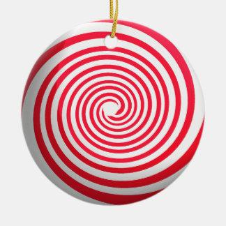 Ornement Rond En Céramique Spirale de sucrerie