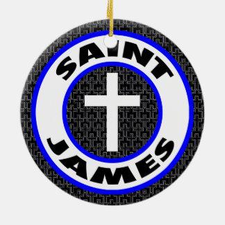 Ornement Rond En Céramique St James