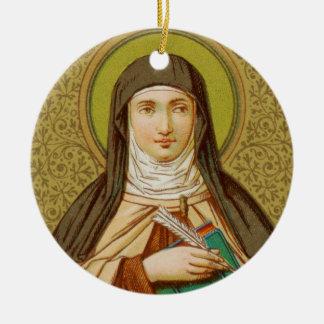 Ornement Rond En Céramique St Teresa double face de cercle d'Avila (SNV 27)