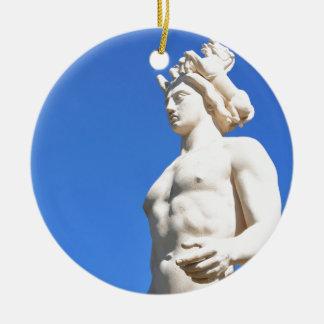 Ornement Rond En Céramique Statue d'Apollo (Neptune)