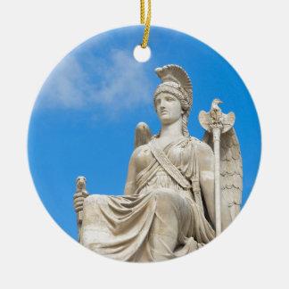 Ornement Rond En Céramique Statue d'une reine