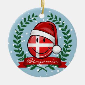 Ornement Rond En Céramique Style de Noël du Danemark