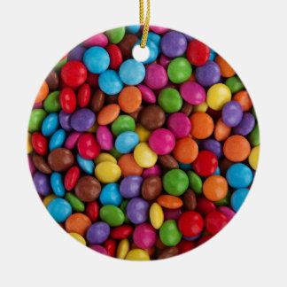 Ornement Rond En Céramique Sucrerie colorée de quilles