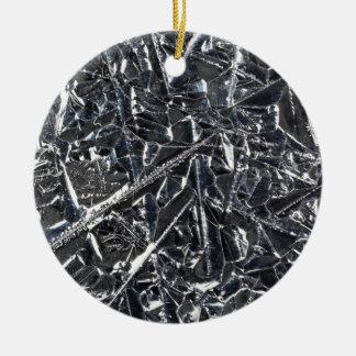 Ornement Rond En Céramique Surface des cristaux purs de silicium