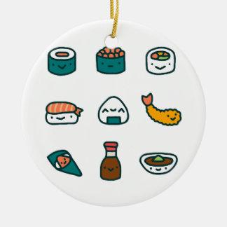 Ornement Rond En Céramique Sushi - aléatoires