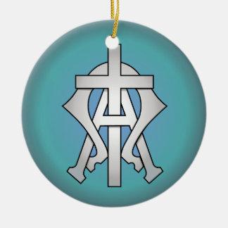 Ornement Rond En Céramique Symbole chrétien