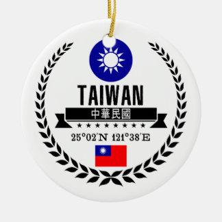 Ornement Rond En Céramique Taïwan