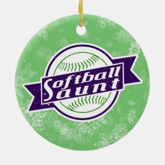 Ornement Rond En Céramique Tante Holiday Decoration du base-ball
