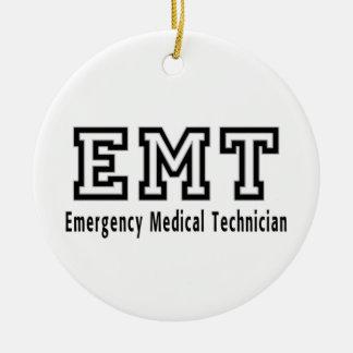 Ornement Rond En Céramique Technicien médical de secours