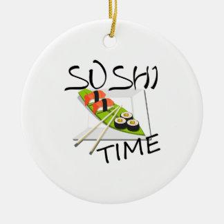 Ornement Rond En Céramique Temps de sushi