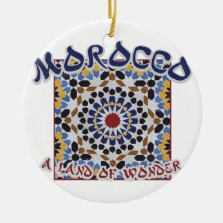 Ornement Rond En Céramique Terre du Maroc de merveille