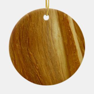Ornement Rond En Céramique Texture en bois de Faux en bois de pin II