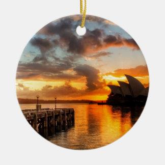 Ornement Rond En Céramique Théatre de l'opéra de Sydney de l'Australie au