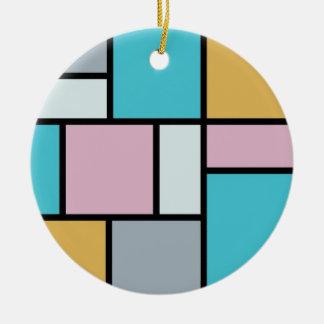 Ornement Rond En Céramique Theo van Doesburg - composition 17 - art de
