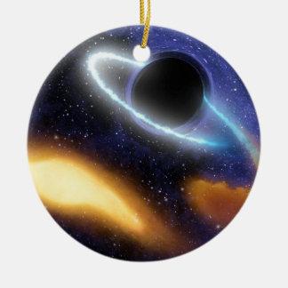 Ornement Rond En Céramique Trou noir PIA01884 de NASAs