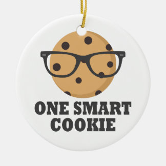 Ornement Rond En Céramique Un biscuit futé