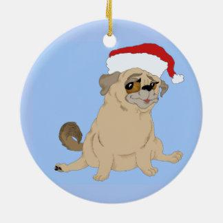 Ornement Rond En Céramique Un Joyeux Noël de carlin