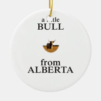 Ornement Rond En Céramique Un petit Taureau d'Alberta