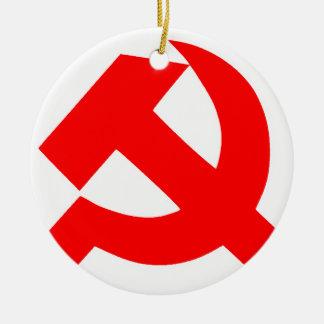 Ornement Rond En Céramique Union Soviétique primitive CCCP de marteau et de
