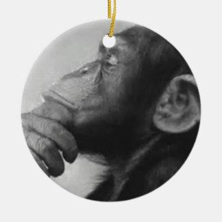 Ornement Rond En Céramique université de singe