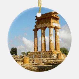 Ornement Rond En Céramique Vallée des temples Sicile