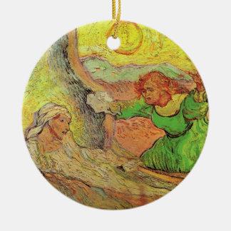 Ornement Rond En Céramique Van Gogh ; Augmenter de Lazarre, religion vintage