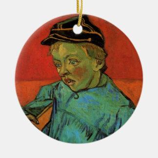 Ornement Rond En Céramique Van Gogh, écolier (Camille Roulin), art vintage
