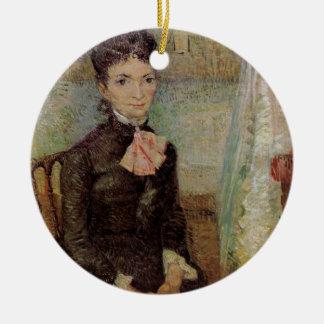 Ornement Rond En Céramique Van Gogh, femme s'asseyant par un berceau, art