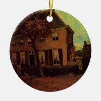 Ornement Rond En Céramique Van Gogh la cure chez Nuenen, beaux-arts vintages