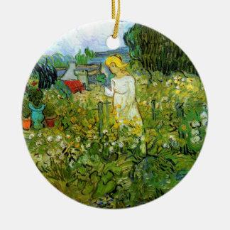 Ornement Rond En Céramique Van Gogh ; Marguerite des prés Gachet dans le