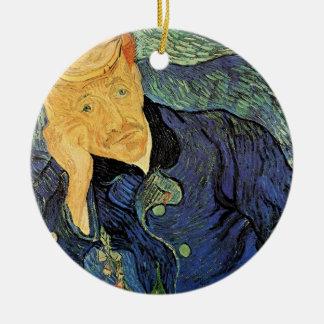 Ornement Rond En Céramique Van Gogh ; Portrait de docteur Gachet, art vintage
