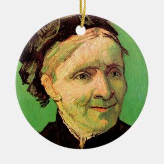 Ornement Rond En Céramique Van Gogh ; Portrait de la mère de l'artiste, art