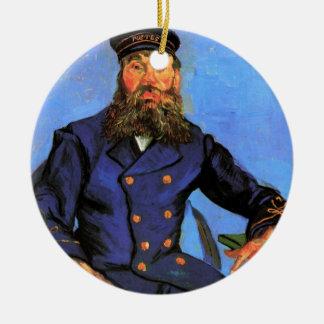 Ornement Rond En Céramique Van Gogh, portrait du facteur Joseph Roulin