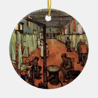Ornement Rond En Céramique Van Gogh ; Salle dans l'hôpital dans Arles