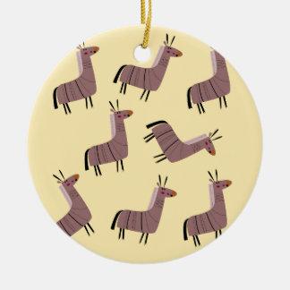 Ornement Rond En Céramique Vanille de lamas