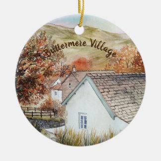 Ornement Rond En Céramique Village de Buttermere, secteur de lac, Angleterre