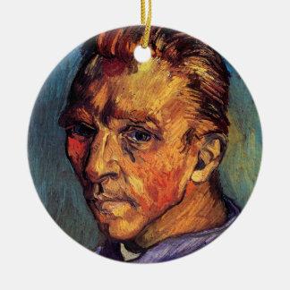 Ornement Rond En Céramique Vincent van Gogh - autoportrait sans barbe
