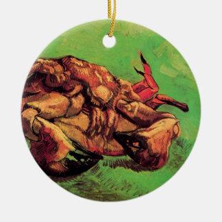 Ornement Rond En Céramique Vincent van Gogh - crabe sur ses beaux-arts