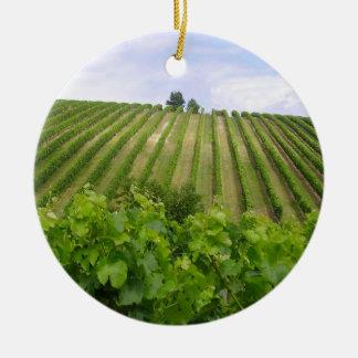 Ornement Rond En Céramique Vineyard - Vignoble (Bordeaux - France) 02