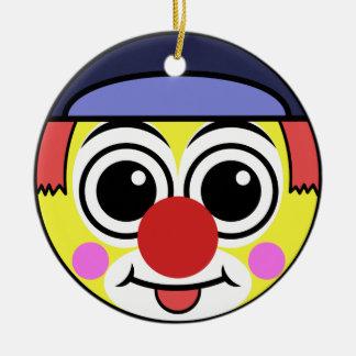 Ornement Rond En Céramique Visage de clown