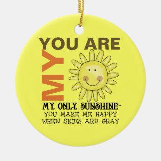 Ornement Rond En Céramique Vous êtes mon soleil