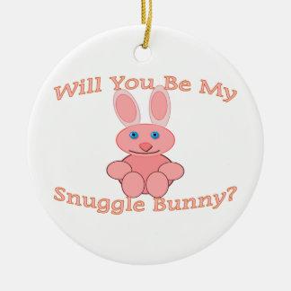 Ornement Rond En Céramique Vous serez mon lapin de câlin