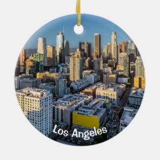 Ornement Rond En Céramique Vue du centre de ville de Los Angeles