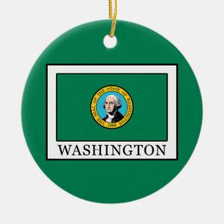 Ornement Rond En Céramique Washington