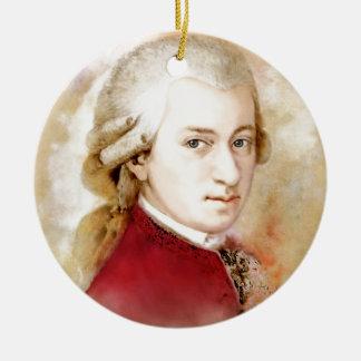 Ornement Rond En Céramique Wolfgang Amadeus Mozart dans l'aquarelle style